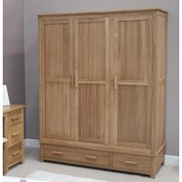 Read more about Rohan oak triple wardrobe