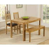 Read more about Oxford 120cm solid oak dining table with benches and oxford chairs