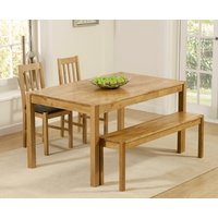 Read more about Oxford 150cm solid oak dining table with benches and oxford chairs