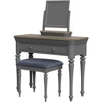 Product photograph showing Rocky Dressing Table In Slate Grey