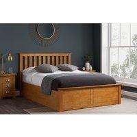 Detroit Oak Small Double Ottoman Bed
