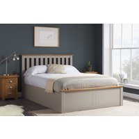 Detroit Pearl Grey Small Double Ottoman Bed