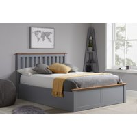 Detroit Stone Grey Small Double Ottoman Bed