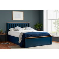 Detroit Navy Small Double Ottoman Bed