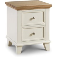 Read more about Oskar oak and white 2 drawer bedside chest