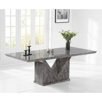 Mocha 220cm Grey Marble Dining Table