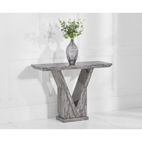 Product photograph showing Mocha Grey Marble Console Table