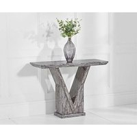 Product photograph showing Ex-display Mocha Grey Marble Console Table
