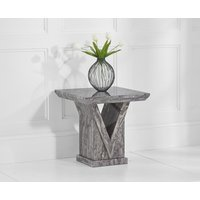 Product photograph showing Mocha Grey Marble Side Table