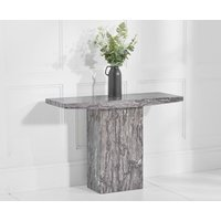 Product photograph showing Crema Grey Marble Console Table
