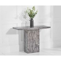 Product photograph showing Ex-display Crema Grey Marble Console Table