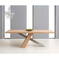 Product photograph showing Ex-display Chateau 180cm Oak And Metal Dining Table