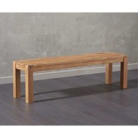 Product photograph showing Ex-display Madrid Oak Bench