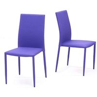 Product photograph showing Ex-display Set Of Six Atlanta Purple Stackable Fabric Dining Chairs
