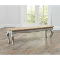 Product photograph showing Ex-display Parisian Large Grey Bench