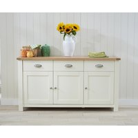 Somerset 3 Door 3 Drawer Oak and Cream Sideboard