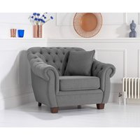 Read more about Lilly chesterfield grey linen fabric armchair