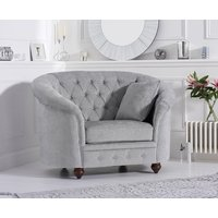 Read more about Chloe chesterfield grey plush fabric armchair