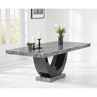 Product photograph showing Ex-display Raphael 200cm Dark Grey Pedestal Marble Dining Table