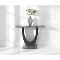 Product photograph showing Raphael Dark Grey Marble Console Table