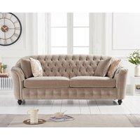 Product photograph showing Christopher Mink Velvet 3 Seater Sofa