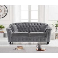 Product photograph showing Ex-display Christopher Grey Velvet 2 Seater Sofa