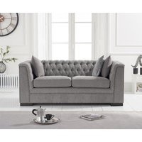 Product photograph showing Porto Grey Linen 2 Seater Sofa