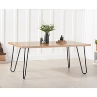 Product photograph showing Alexa 180cm Ash And Veneer Dining Table