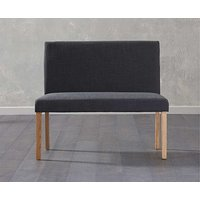 Product photograph showing Ex-display Mia Small Black Bench With Back