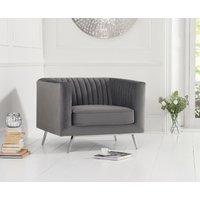 Read more about Danube grey velvet armchair