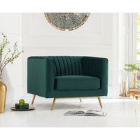 Read more about Danube green velvet armchair