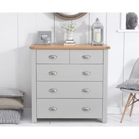 Read more about Somerset oak and grey 2 over 3 drawer chest