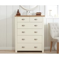 Read more about Somerset oak and cream 2 over 4 drawer chest