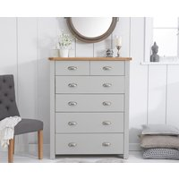 Read more about Somerset oak and grey 2 over 4 drawer chest