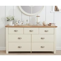 Read more about Somerset oak and cream 3 over 4 drawer chest