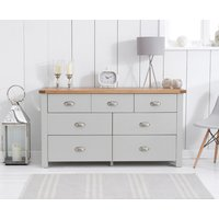 Read more about Somerset oak and grey 3 over 4 drawer chest