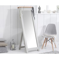 Product photograph showing Somerset Oak And Grey Cheval Mirror