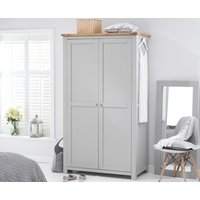 Read more about Somerset oak and grey two door wardrobe