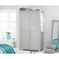 Product photograph showing Somerset Grey Two Door Wardrobe