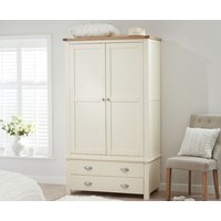 Read more about Somerset oak and cream two door two drawer wardrobe