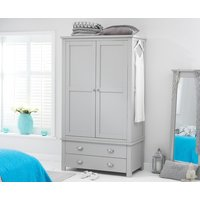 Product photograph showing Somerset Grey Two Door Two Drawer Wardrobe