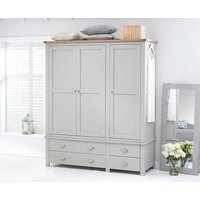 Read more about Ex-display somerset oak and grey 3 door 4 drawer wardrobe
