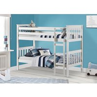 Product photograph showing Nebraska White Bunk Bed