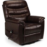 Product photograph showing Peter Brown Leather Dual Motor Rise And Recline Chair