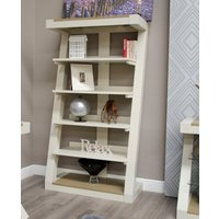Product photograph showing Infinity Painted Smoke Top Large Bookcase
