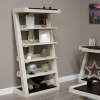 Product photograph showing Infinity Painted Wenge Top Large Bookcase