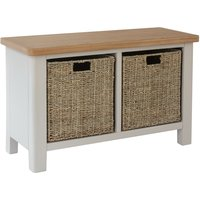 Cole Oak and Truffle Grey Hall Bench