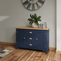 Cole Oak and Blue Large Sideboard