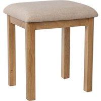 Product photograph showing Noah Rustic Oak Dressing Table Stool