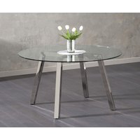 Product photograph showing Reece Glass Dining Table